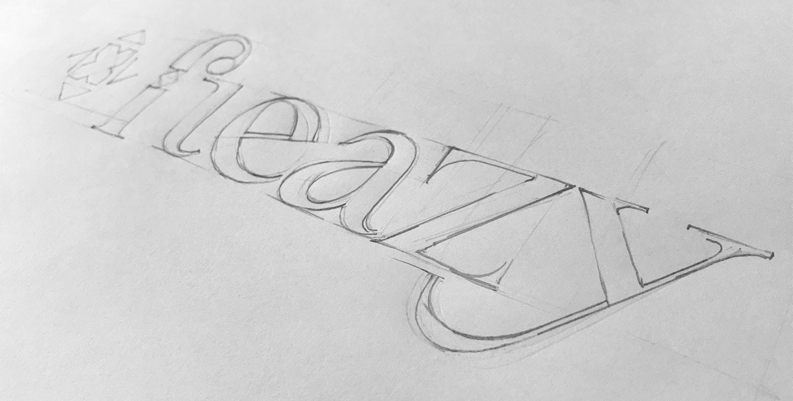 Logo-Skizze für einen Webshop